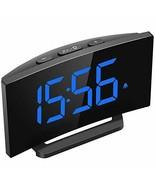 Mpow Digital Alarm Clock, 5'' Curved LED Screen, 6 Brightness, 3 Blue - $24.37