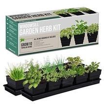 Window Garden Kit 10 Culinary Herbs - Indoor Organic Herb Growing Kit - ... - $39.59