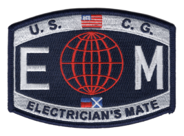 """4.5"""" COAST GUARD ELECTRICIAN'S MATE EMBROIDERED PATCH - $17.14"""