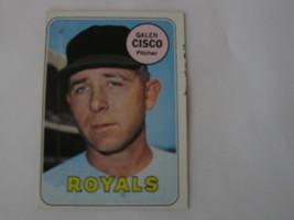 1969 Topps Baseball Card # 211 Galen Cisco - Kansas City Royals Error ca... - $1,234.00