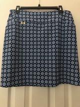 Nwt Ladies Lisette Sport Navy Blue & Turquoise Floral Golf Skort Size 12 - $54.99