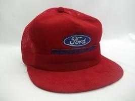 Ford Motorsport Hat Vintage K Brand Red Corduroy Snapback Trucker Cap - $29.99