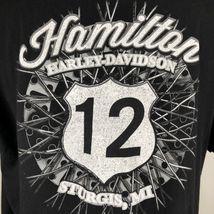 Harley Davidson T Shirt Skeleton Clown Size XL Sturgis MI Black Motorcycle image 5