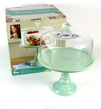 "Pioneer Woman Timeless Beauty 10"" Pistachio Pedestal Cake Stand w/ Glass... - $37.10"