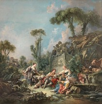 Shepherd's Idyll by Francois Boucher 1758 Old Masters 11x11 Print - $29.69