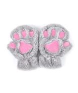 2019 Winter Lovely Women Bear Cat Claw Paw Mitten Plush Gloves Short Fin... - $15.44