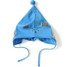 Baby Sheep Hat Toddler Soft Hat Infant Cotton Hat 0-24Months (Blue)