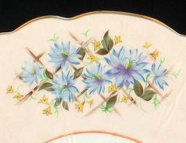 VINTAGE AYNSLEY BONE CHINA BLUE BACHELOR BUTTONS CUP SAUCER DESERT PLATE ENGLAND image 4