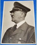 ORIGINAL WW2 ADOLF HITLER POSTCARD WITH SPECIAL 1941 MUNICH CANCELLATION - $25.00