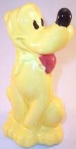 """Rare Walt Disney Yellow Pluto Dog 8.5"""" Ceramic Figurine w/ Sloppy Paint & Flaws - $5.99"""