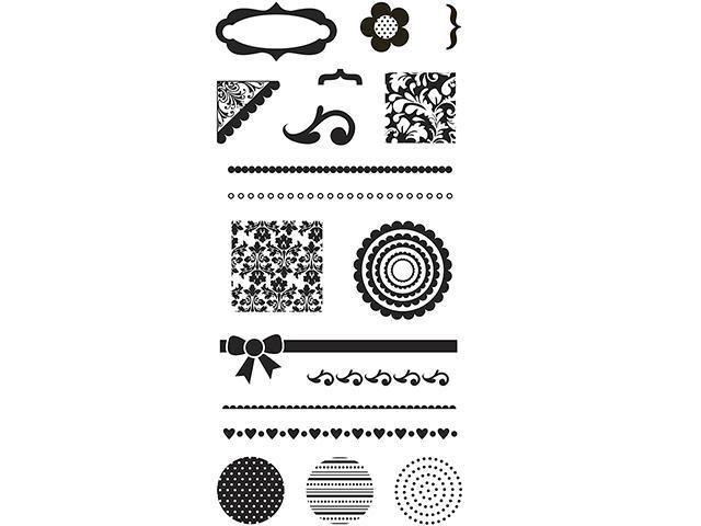 Fiskars Simple Stick Rubber Stamp Set #136640-1001 18 Pieces