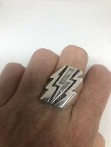 Vintage Lightning Mens Ring Mother Of Pearl Size 9.5 - $27.71