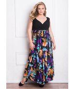 Sexy GIGI Designs Black Floral Plus Size Glamorous Valencia Maxi Party D... - €124,17 EUR