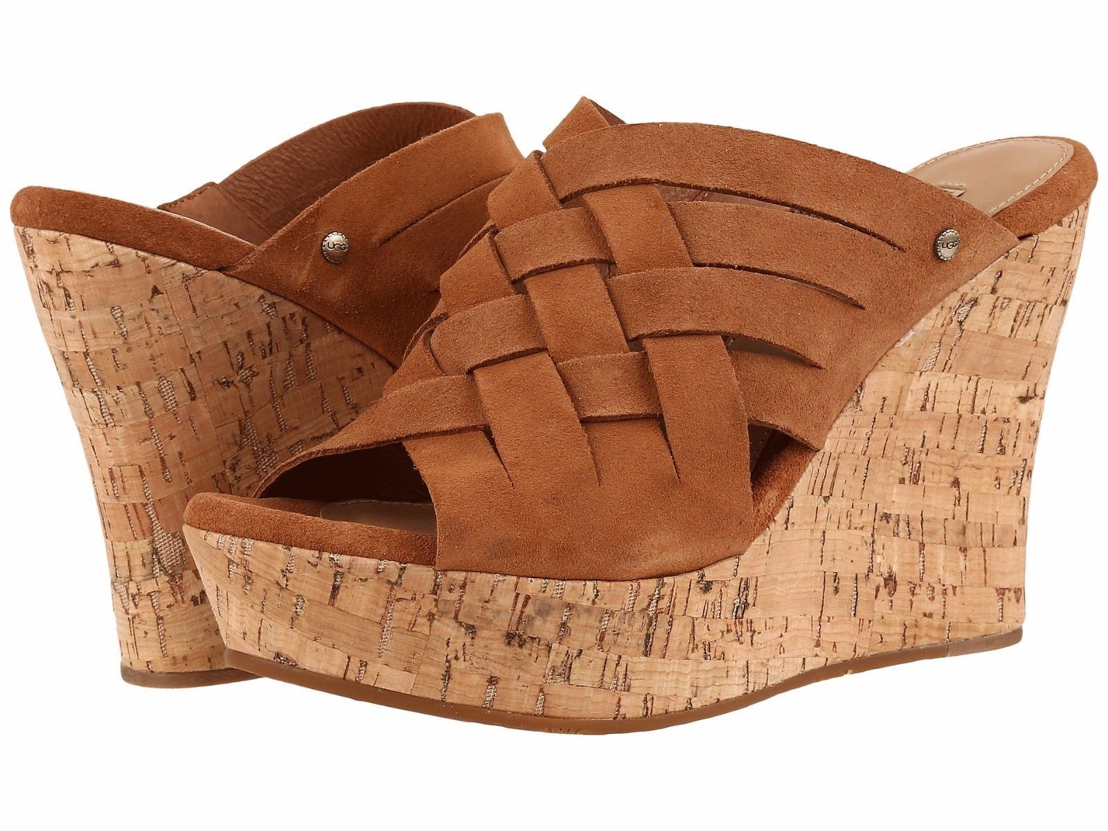 Primary image for Women's UGG® Marta High Wedge Sandals, 1015079 Sizes 7-11 Chestnut Authentic