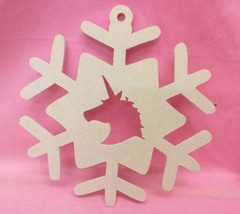 Unicorn Christmas Snowflake MDF Wooden   200mm craft Shapes, Plaques,  - $2.81