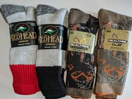 RedHead and Realtree Brand Merino Wool Blend Socks, 4 pair,Large Size,As... - $39.59