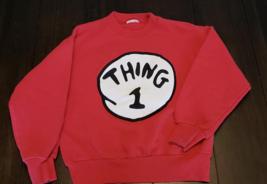 Thing 1 and 2 sweatshirt Dr. Seuss Universal Studios Halloween costume S - $24.74