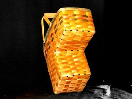 Double Handled Swing Basket Handmade AA19-1577 Vintage image 5