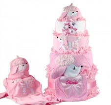 PRETTY AS A POODLE DIAPER CAKE PERSONALIZED BABY GIRL GIFT - $168.00