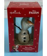 Hallmark Disney Frozen Olaf Blown Glass Christmas Tree Ornament Premium ... - $17.77