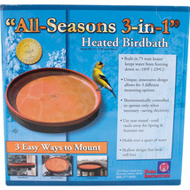 Farm Innovators Terra Cotta All Seasons 3-in-1 Heated Birdbath 75 Watt - $66.17