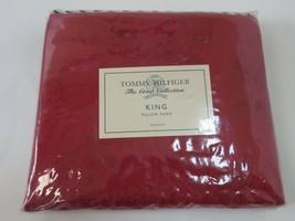 1 Tommy Hilfiger Vineyard Haven Roses jacquard king sham Red NEW - $56.30