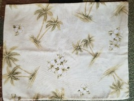 Palm Trees White Hibiscus Flowers Tropical Zipper Enclosed Pillow Case 1... - $12.99