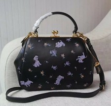 NWT Coach x Disney Frame Bag 23 with Dalmatian Print 68932 Black SOLD OUT! - $483.13