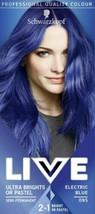 2 x Schwarzkopf Professional Live Hair Dye Colour ELECTRIC BLUE Semi Permanent - $24.23