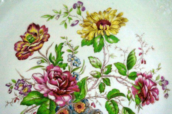 """Homer Laughlin Floral TH6 M47N5 11 1/8"""" Oval Platter image 2"""