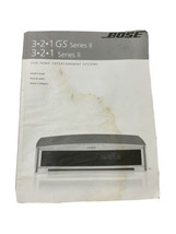 Bose DVD Home Entertainment System  Owner's Guide 321 GS Series II - $13.99