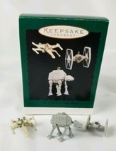 Hallmark Keepsake Ornament Miniature 3 Ornament Set Vehicles of Star War... - $14.80