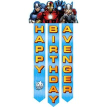 """Avengers Assemble Happy Birthday Streamer Banner 48"""" Long Party Supplies - $7.87"""
