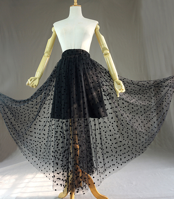 Black dot tulle skirt 4