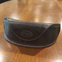 FOSSIL Brown Leather Glasses Case Magnetic Closure - ₨595.03 INR