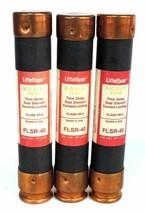LOT OF 3 LITTLEFUSE FLSR-40 CLASS RK-5 SLO BLO TIME DELAY DUAL ELEMENT FUSES
