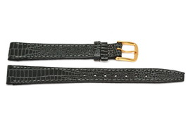 13MM GRAY LIZARD GRAIN STITCHED GENUINE LEATHER WATCH BAND STRAP FIT CIT... - $16.42 CAD