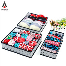 5 Color Home Storage Underwear Bra Organizers Foldable Storage Boxes For... - $13.99