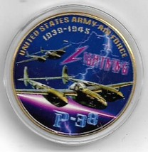 US Army Air Corp P-38 US Army Air Corps P-38 Lighting Challenge Coin 1938-1945 - $9.89
