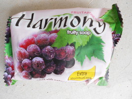 Harmony Fruity Soap Extra Moisturizer Enriched With Natural Grape Extract 75g. - $4.72