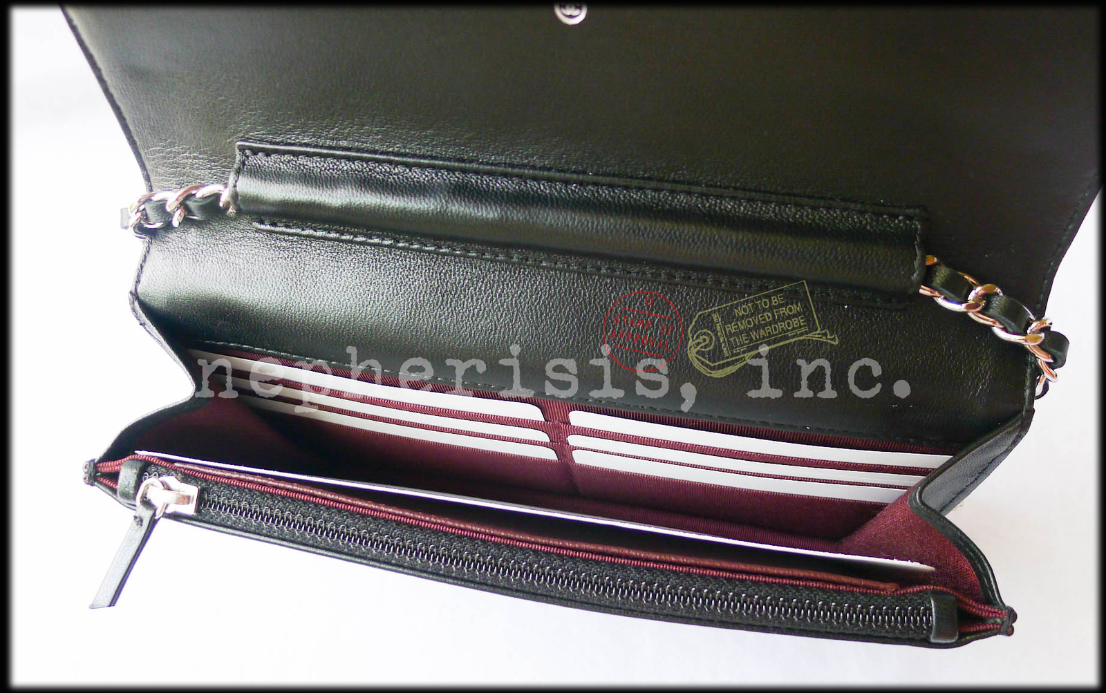 94c77a14557db2 BNIB Chanel Classic Quilted WALLET ON CHAIN or WOC Black Lambskin with  Silver HW