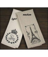 Medium Eiffel Tower French Tea Towel 15x25 cros... - $6.00