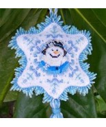 Misty Blue snowwoman cross stitch chart Blackberry Lane Designs - $12.60