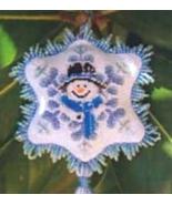 Frosty Blue snowman cross stitch chart Blackberry Lane Designs - $12.60
