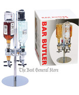 Chrome Rotating 4 Station Liquor Alcohol Dispenser Speed Pour Party Bar Tap - $51.99