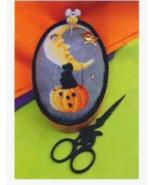 Boo Moon pincushion halloween cross stitch chart Blackberry Lane Designs - $12.60
