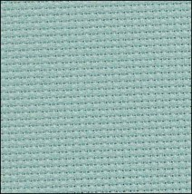 Waterfall Blue 14ct aida 17x19 cross stitch fabric Fabric Flair - $15.00