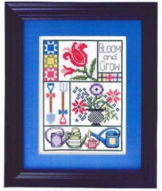 Bloom and Grow cross stitch chart Bobbie G Designs - $7.20
