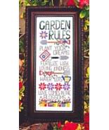 Garden Rules cross stitch chart Bobbie G Designs - $7.20