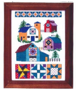 Barn Quilts cross stitch chart Bobbie G Designs - $7.20
